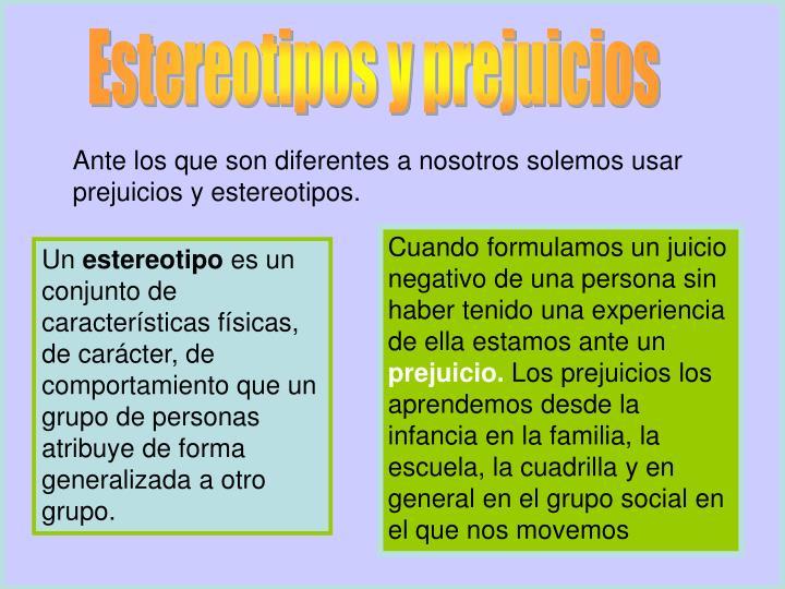 Estereotipos y prejuicios