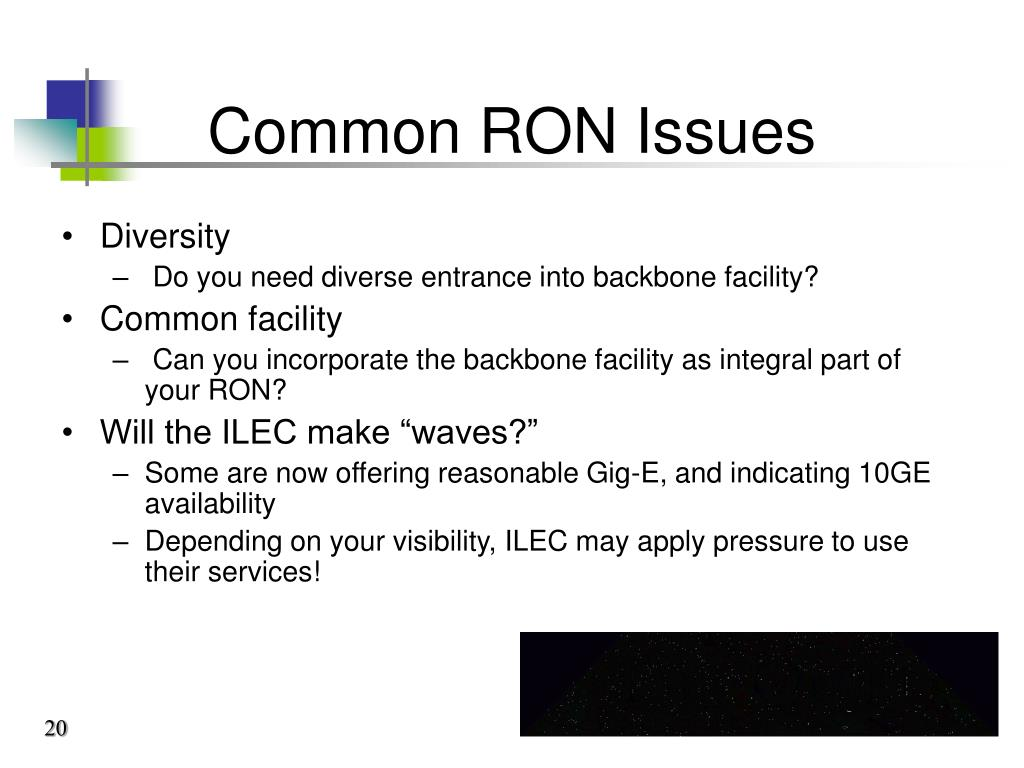 Common RON Issues