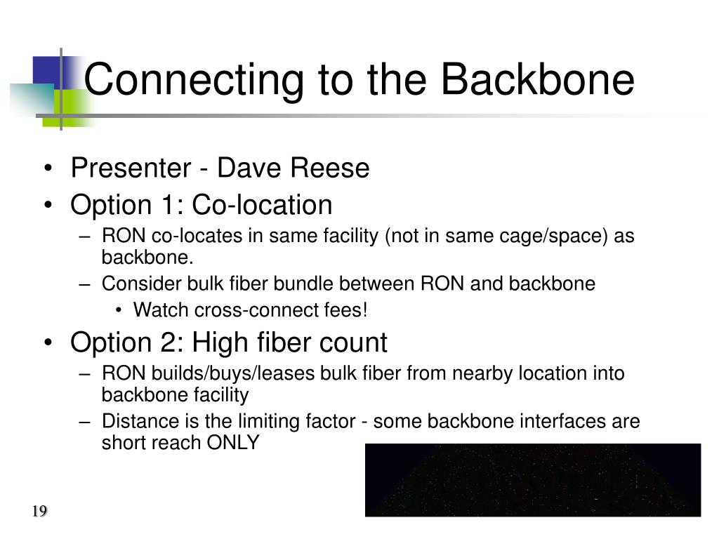 Connecting to the Backbone