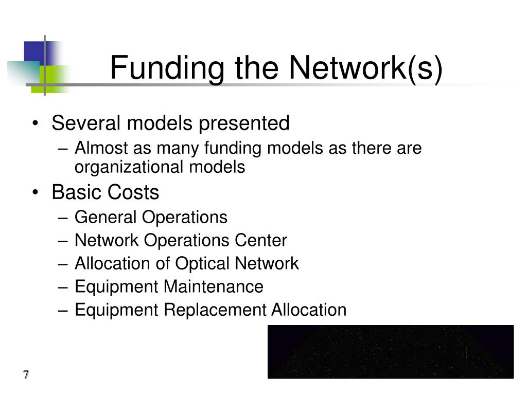 Funding the Network(s)