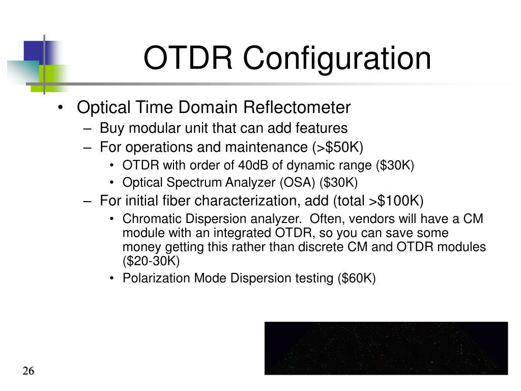 OTDR Configuration
