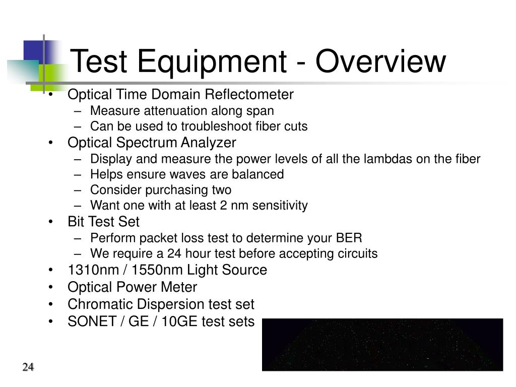 Test Equipment - Overview