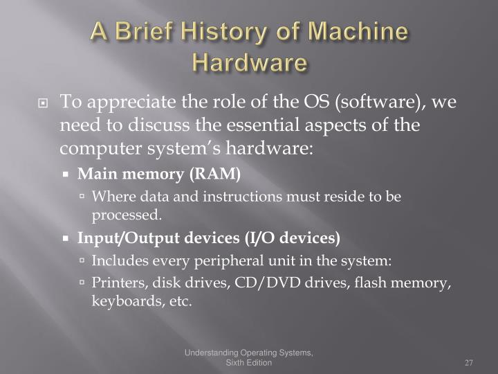 A Brief History of Machine Hardware