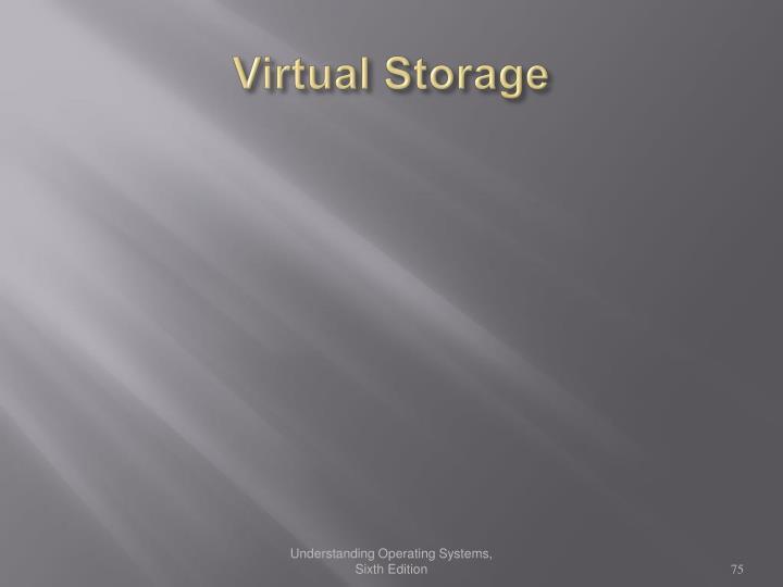Virtual Storage