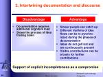 2 intertwining documentation and discourse