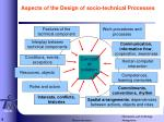 aspects of the design of socio technical processes