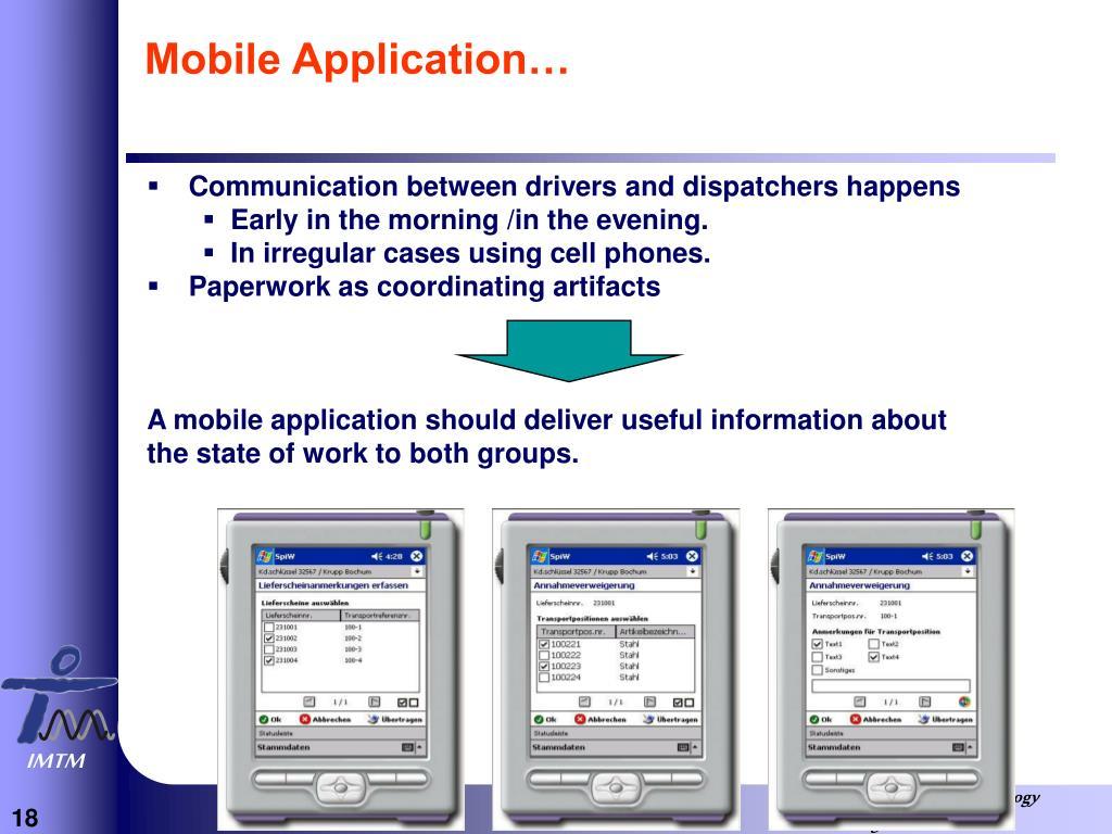Mobile Application…