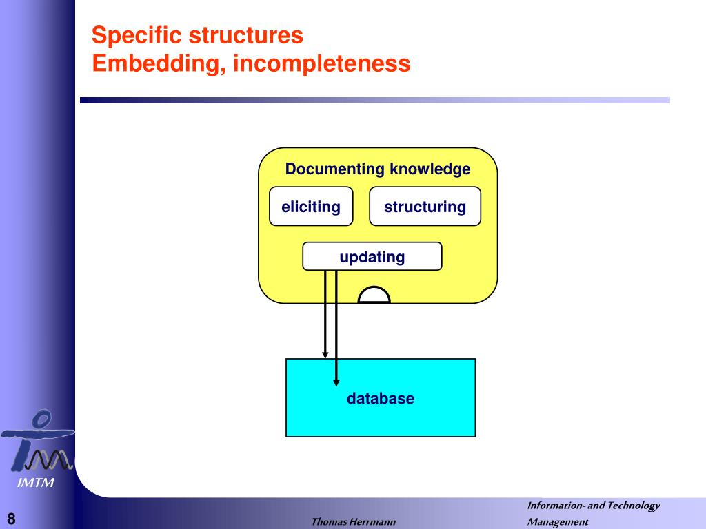 Specific structures