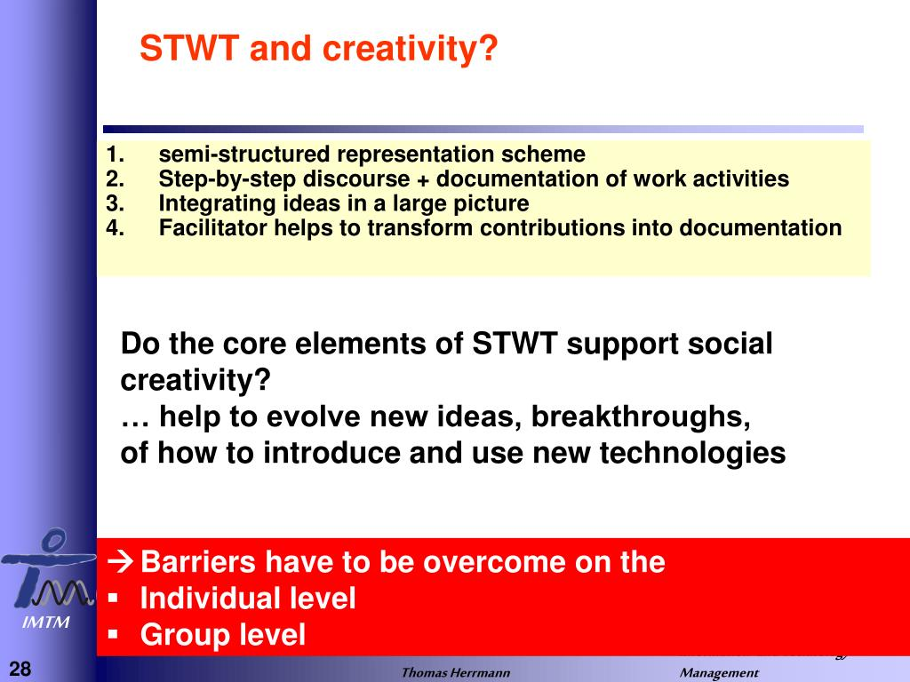 STWT and creativity?