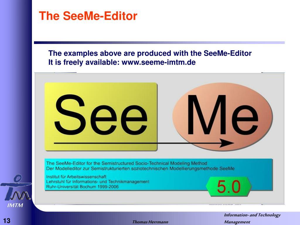 The SeeMe-Editor