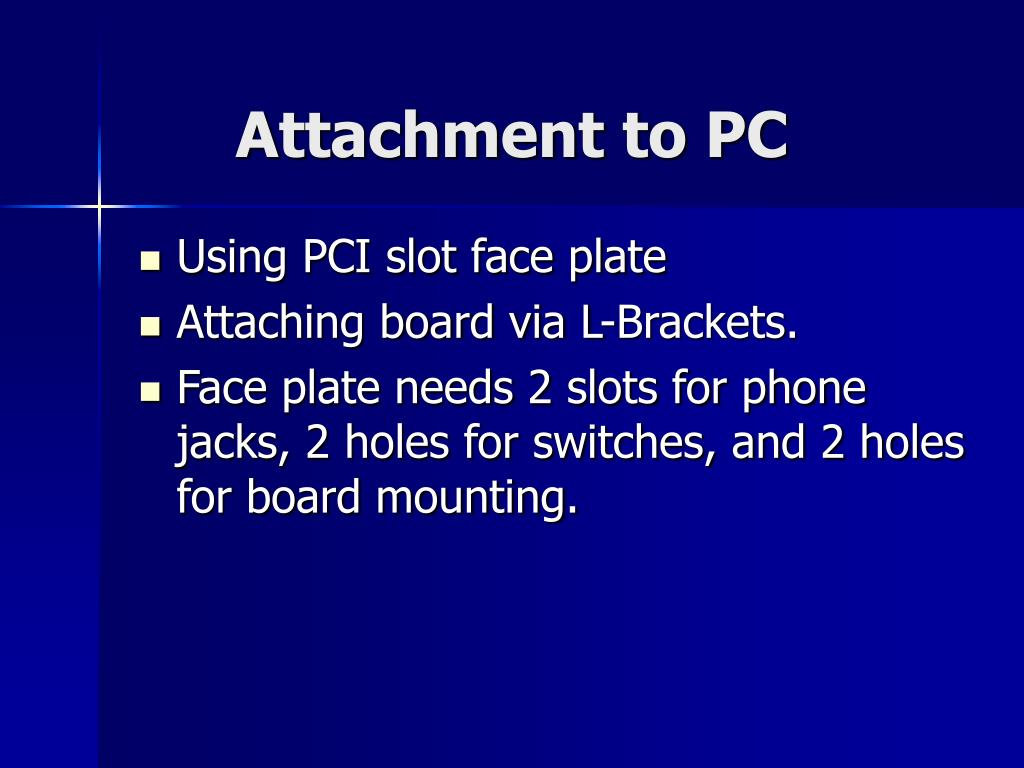 Attachment to PC