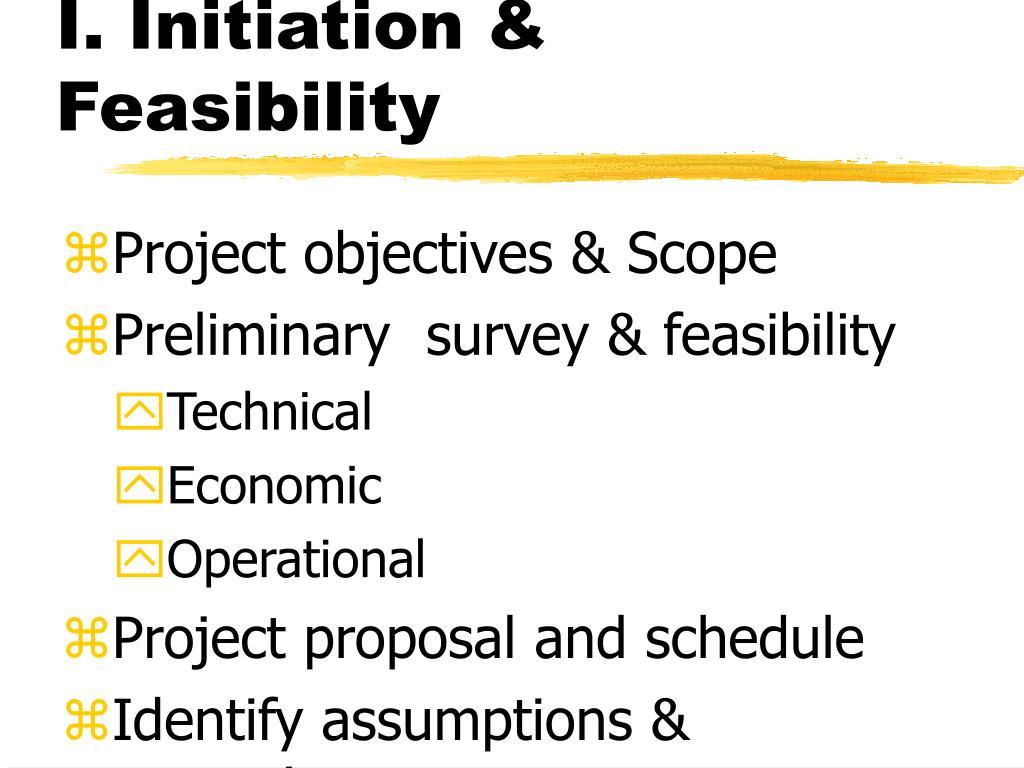 I. Initiation & Feasibility