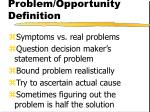 problem opportunity definition