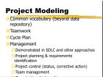 project modeling