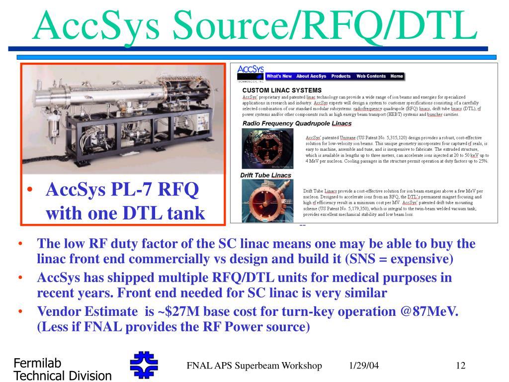 AccSys Source/RFQ/DTL