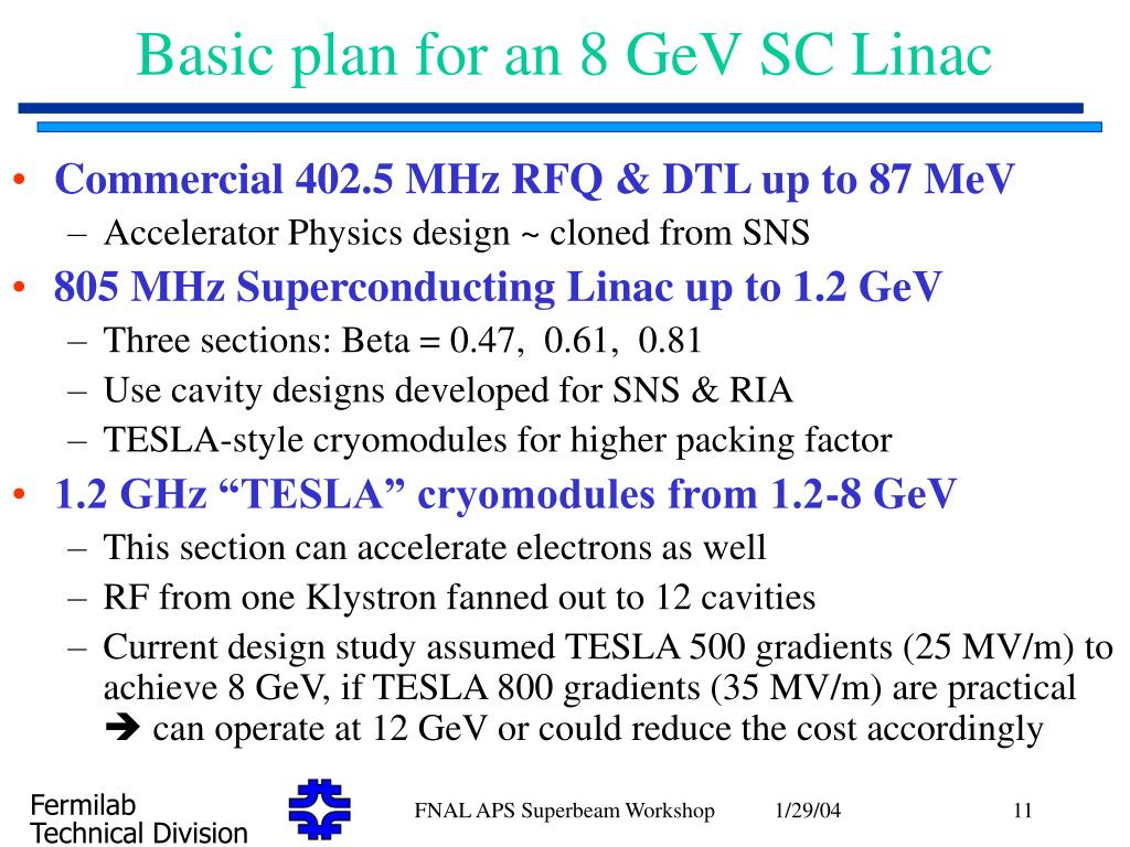 Basic plan for an 8 GeV SC Linac