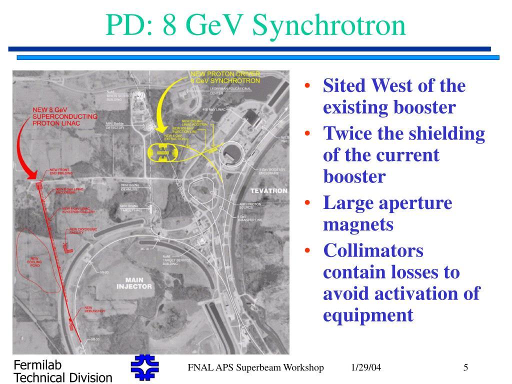 PD: 8 GeV Synchrotron