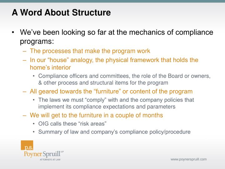 A Word About Structure