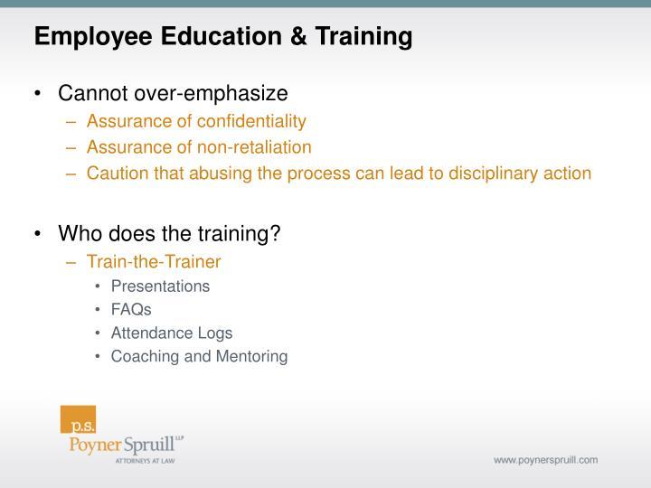 Employee Education & Training