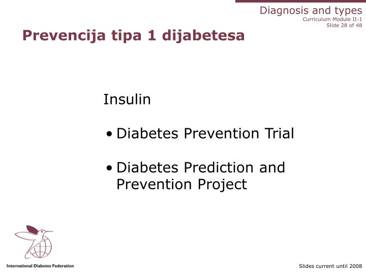 Prevencija tipa 1 dijabetesa
