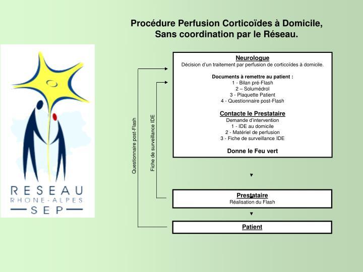 Procédure Perfusion Corticoïdes à Domicile,