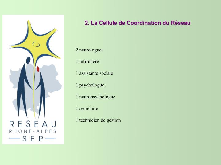 2. La Cellule de Coordination du Réseau