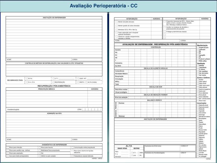Avaliação Perioperatória - CC