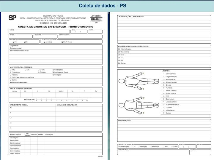 Coleta de dados - PS