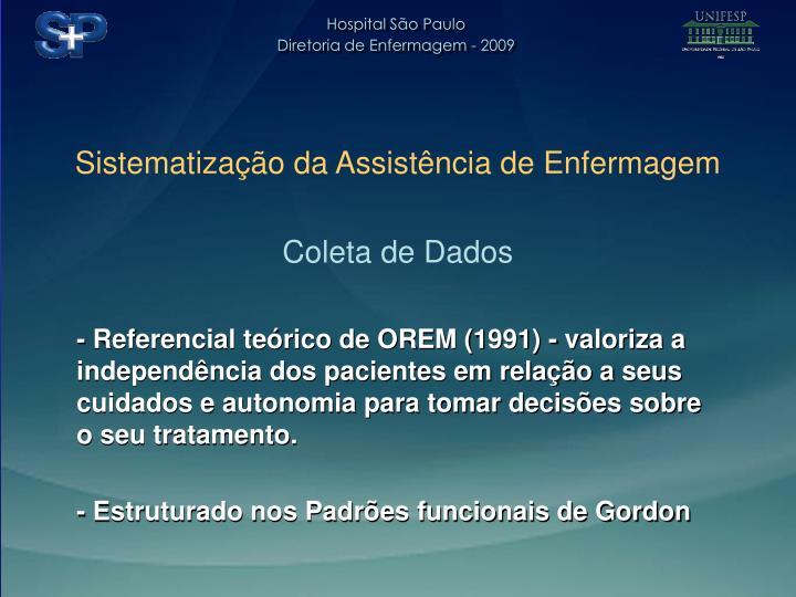 Sistematização da Assistência de Enfermagem