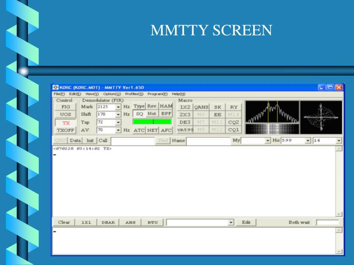 MMTTY SCREEN