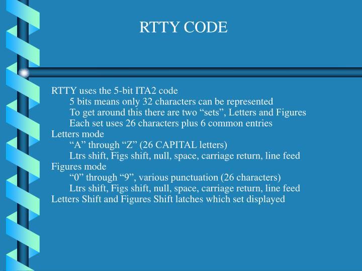 RTTY CODE