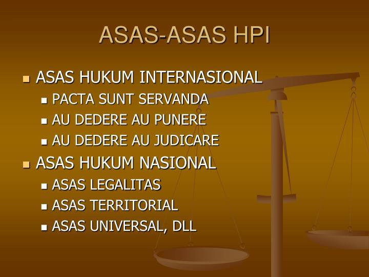 ASAS-ASAS HPI