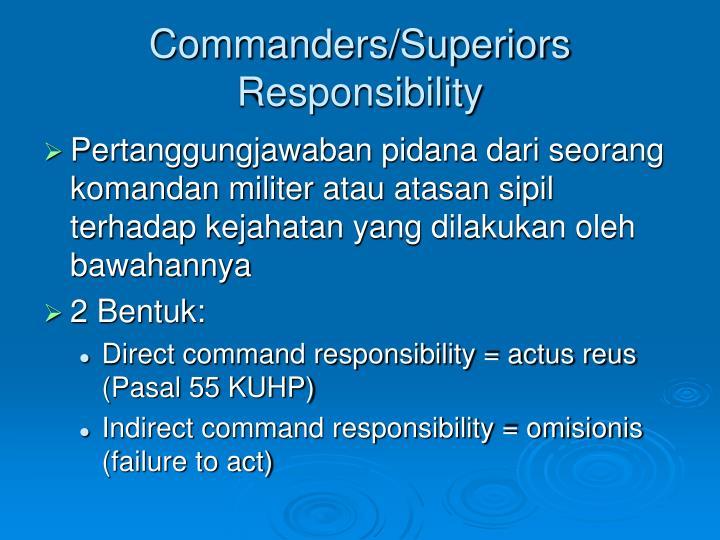 Commanders/Superiors Responsibility