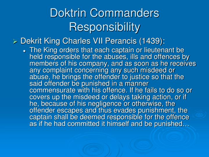 Doktrin Commanders Responsibility