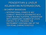 pengertian unsur kejahatan internasional