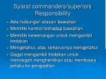syarat commanders superiors responsibility