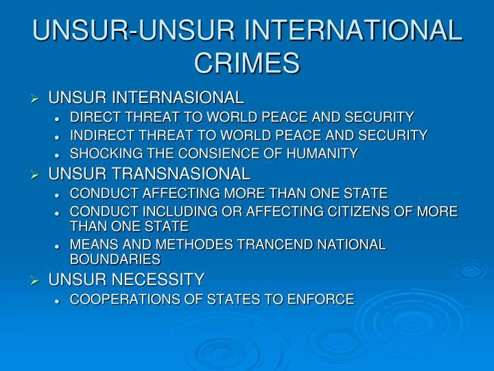 UNSUR-UNSUR INTERNATIONAL CRIMES