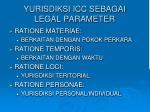 yurisdiksi icc sebagai legal parameter
