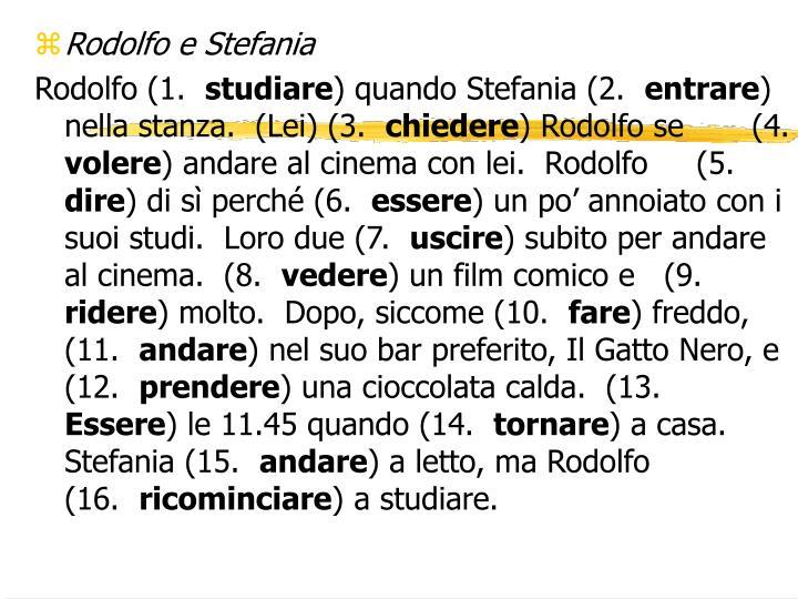 Rodolfo e Stefania
