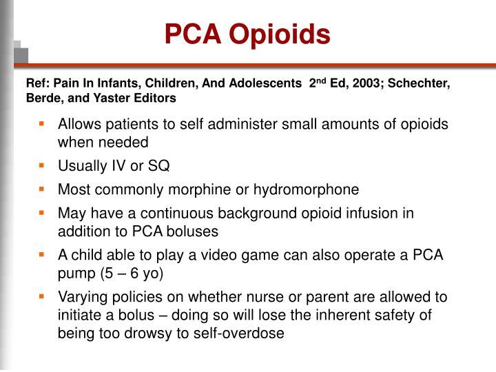 PCA Opioids
