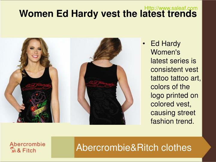 Women ed hardy vest the latest trends