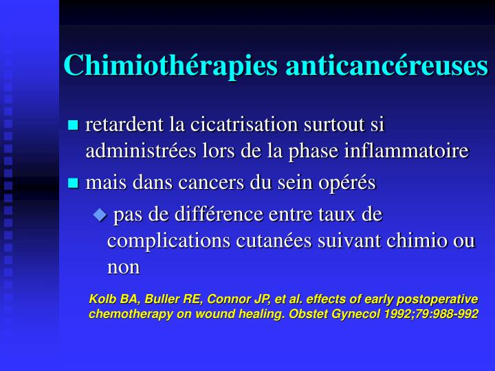 Chimiothérapies anticancéreuses