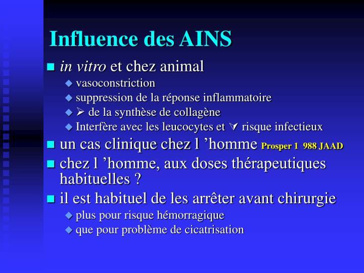 Influence des AINS