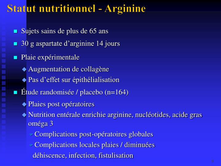 Statut nutritionnel - Arginine