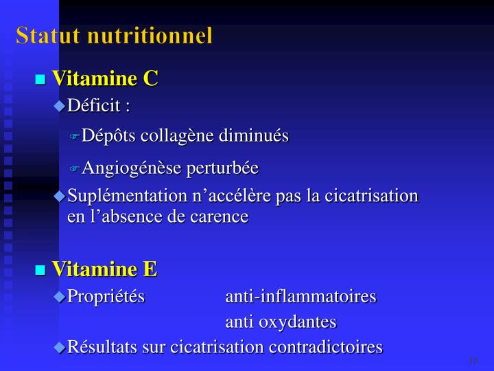Statut nutritionnel