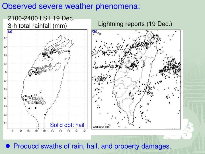 Lightning reports (19 Dec.)