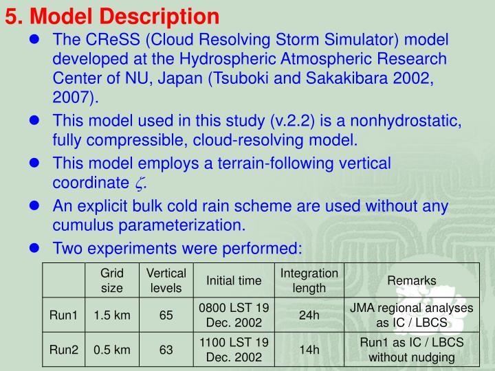5. Model Description