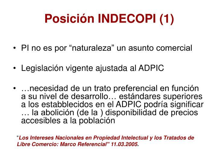 Posición INDECOPI