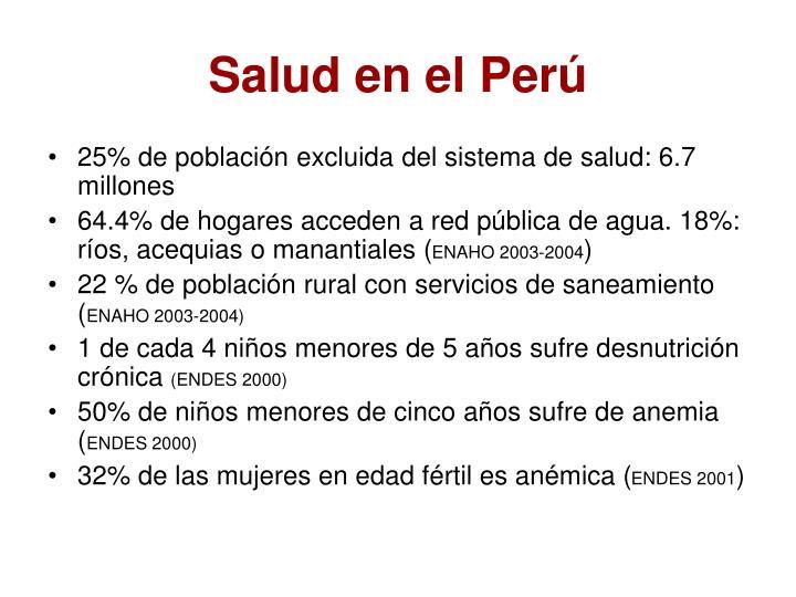Salud en el Perú