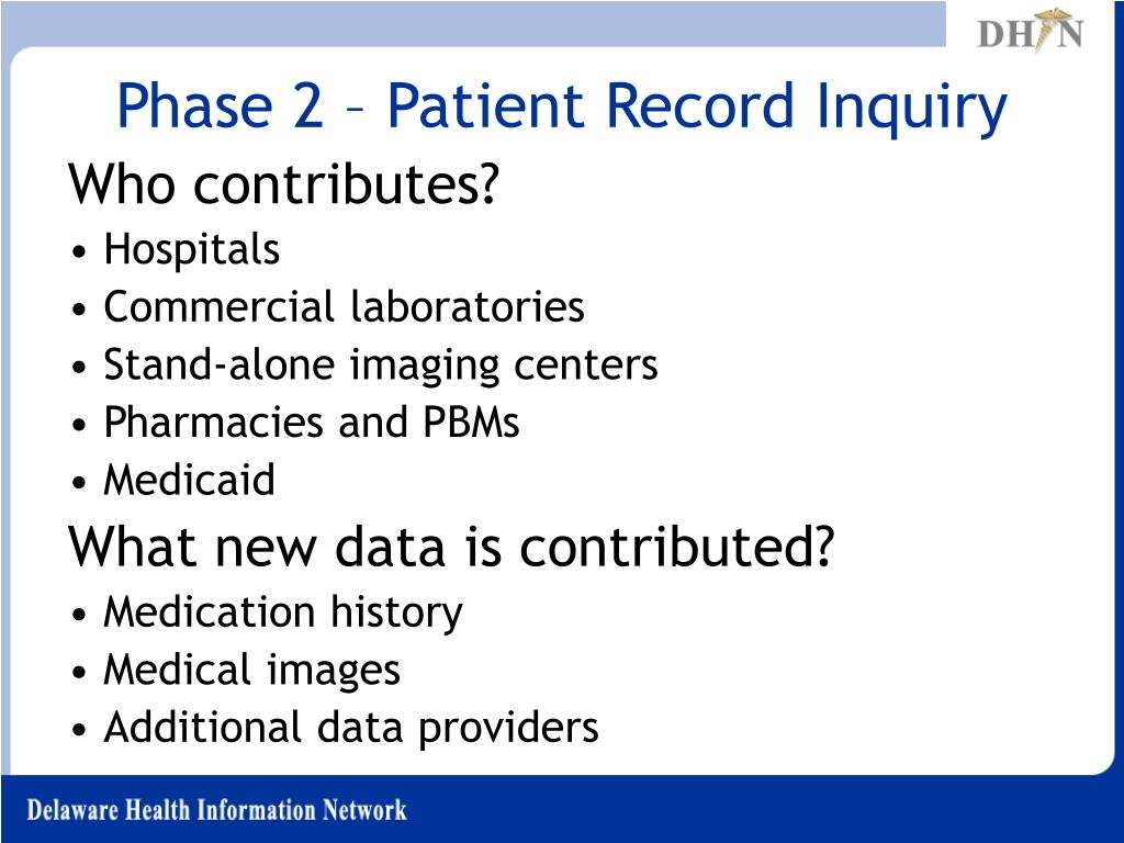 Phase 2 – Patient Record Inquiry